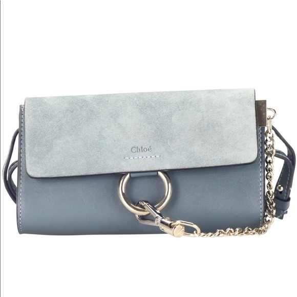 9784c5486597 Chloe Mini Faye Suede   Leather Wallet on a Chain
